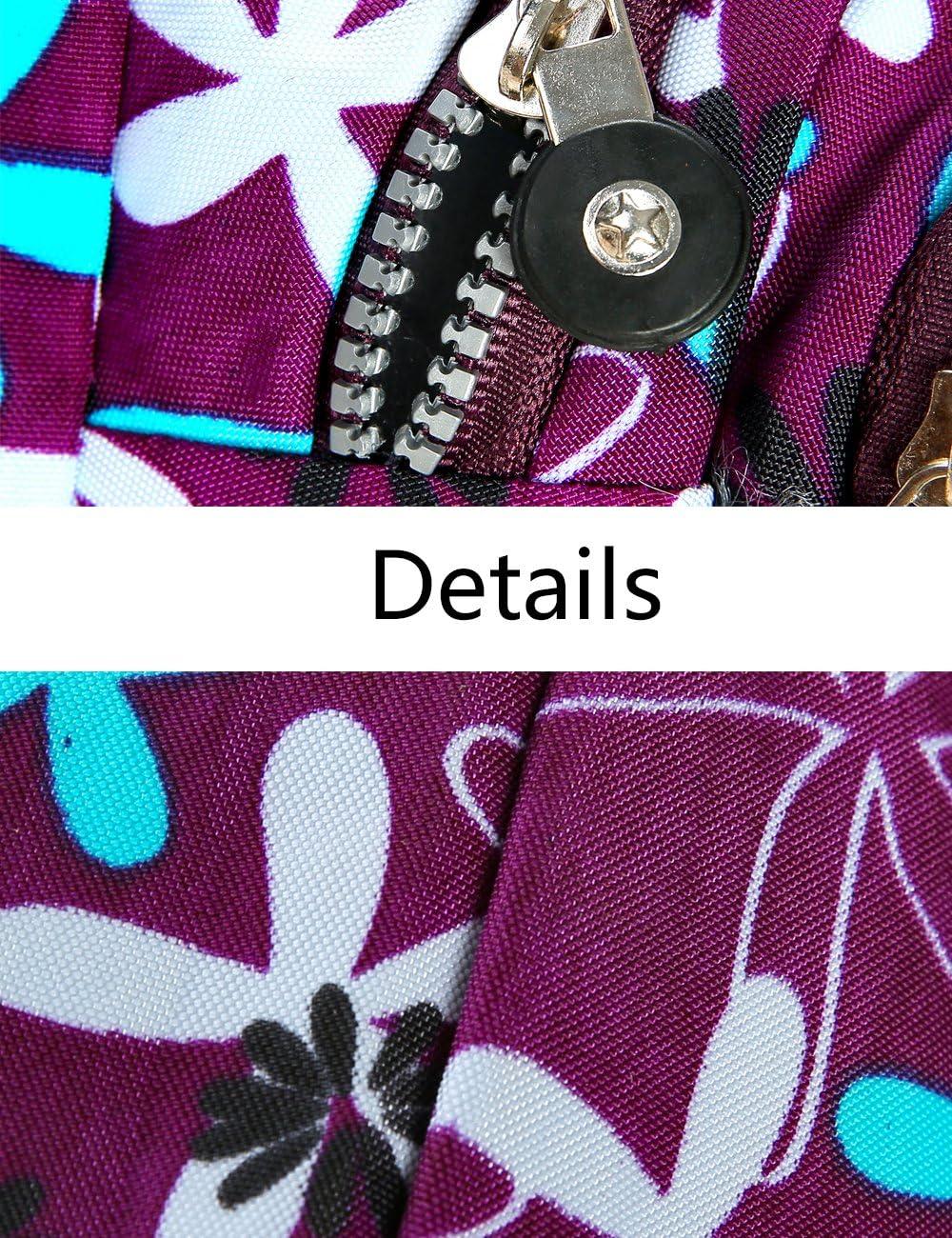 iSuperb Ceinture de Toile Multifonction 4-Zipper Fanny Pack de Sac de Taille Avec sangle r/églable pour Running Fitness Cyclisme Randonn/ée Voyage Camping Sports