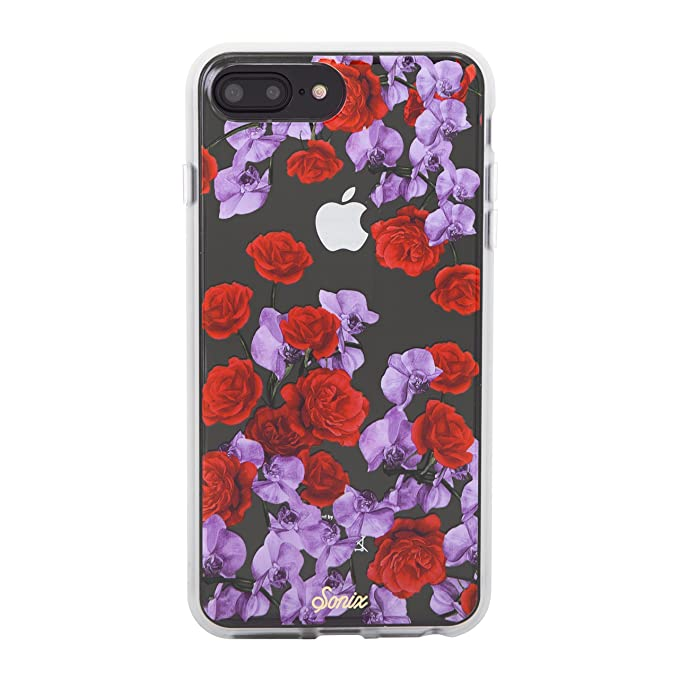 buy online 4aeb2 9b5cb iPhone 8 PLUS, 7 PLUS, 6 PLUS, Sonix ROSE ORCHID Clear Coat Cell Phone Case  - Military Drop Test Certified - Sonix Clear Case Series for Apple (5.5