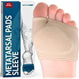 Metatarsal Pads - Gel Sleeves Forefoot Cushion Pads - Fabric Soft Foot Care Ball of Foot Cushions for Bunion Forefoot…