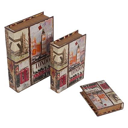 Set de 3 Cajas Libro 32x23x7 1 diseño