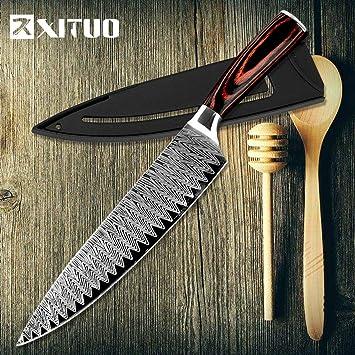 XITUO Cuchillo De Cocina Cuchillos De Cocina 8 Pulgadas ...
