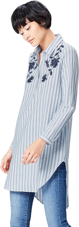 Marca Amazon - find. Camisa con Bordados para Mujer