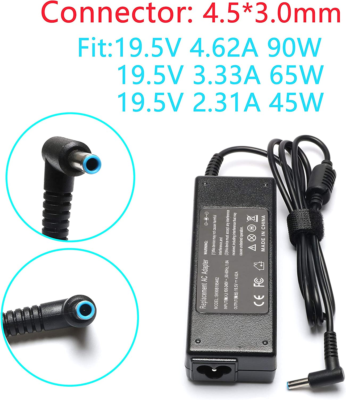 90W 19.5V 4.62A AC Charger for HP 741727-001 H6Y89AA 710412-001 H6Y88AA PPP009D 740015-003 H6Y90AA 740015-002 740015-001 PPP012D-S PPP009A PPP009C 710413-001 TPN-LA03 PPP012L-E PPP009L-E HSTNN-CA40