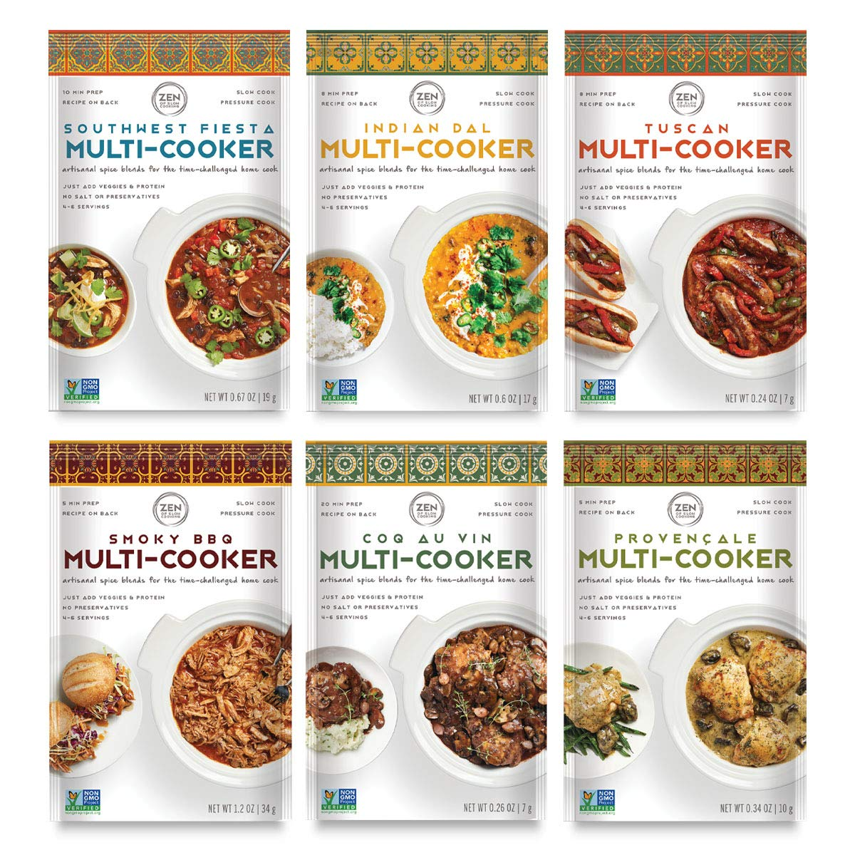 the zen of slow cooking Gourmet Slow Cooker Spice Blends Collections (Sampler, 6 pack)