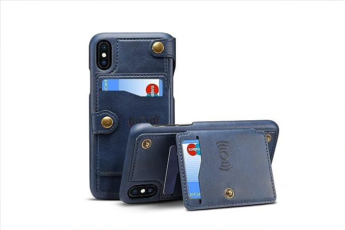 Iphone X Cover Leder Tacoo Reißverschluss Kreditkarte