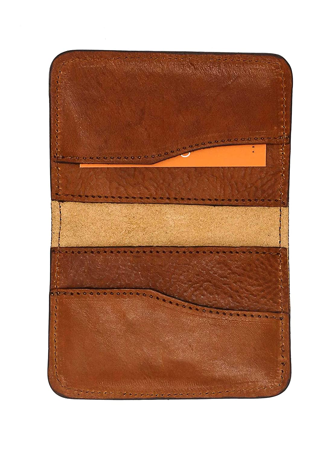 Foldable Genuine Full Grain Leather /& Handcrafted Credit Card Holder Otero Menswear Wallet