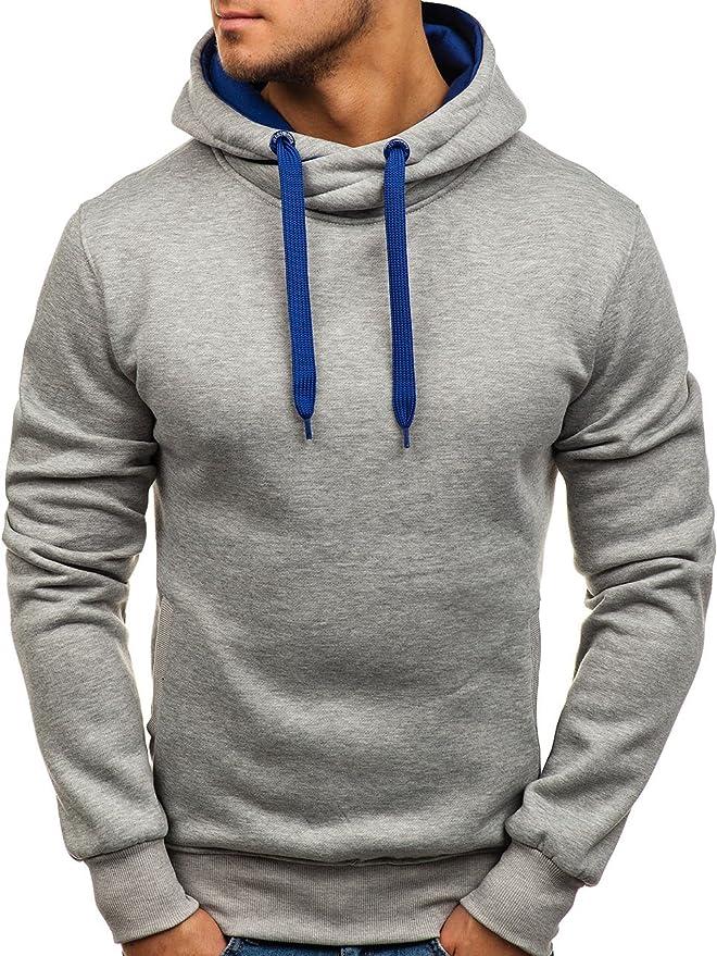 08a602c36a7d7 BOLF Homme Sweatshirt avec Capuche Basique Manches Longues Hiver Poche  Kangourou Sportif 1A1  Amazon.fr  Vêtements et accessoires