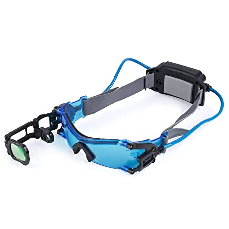e9c589ccf Amazon.com: Spy Gear Spy Night Goggles - Features Lighted Blue Lenses,  Retractable Scope, Adjustable Head Strap: Toys & Games