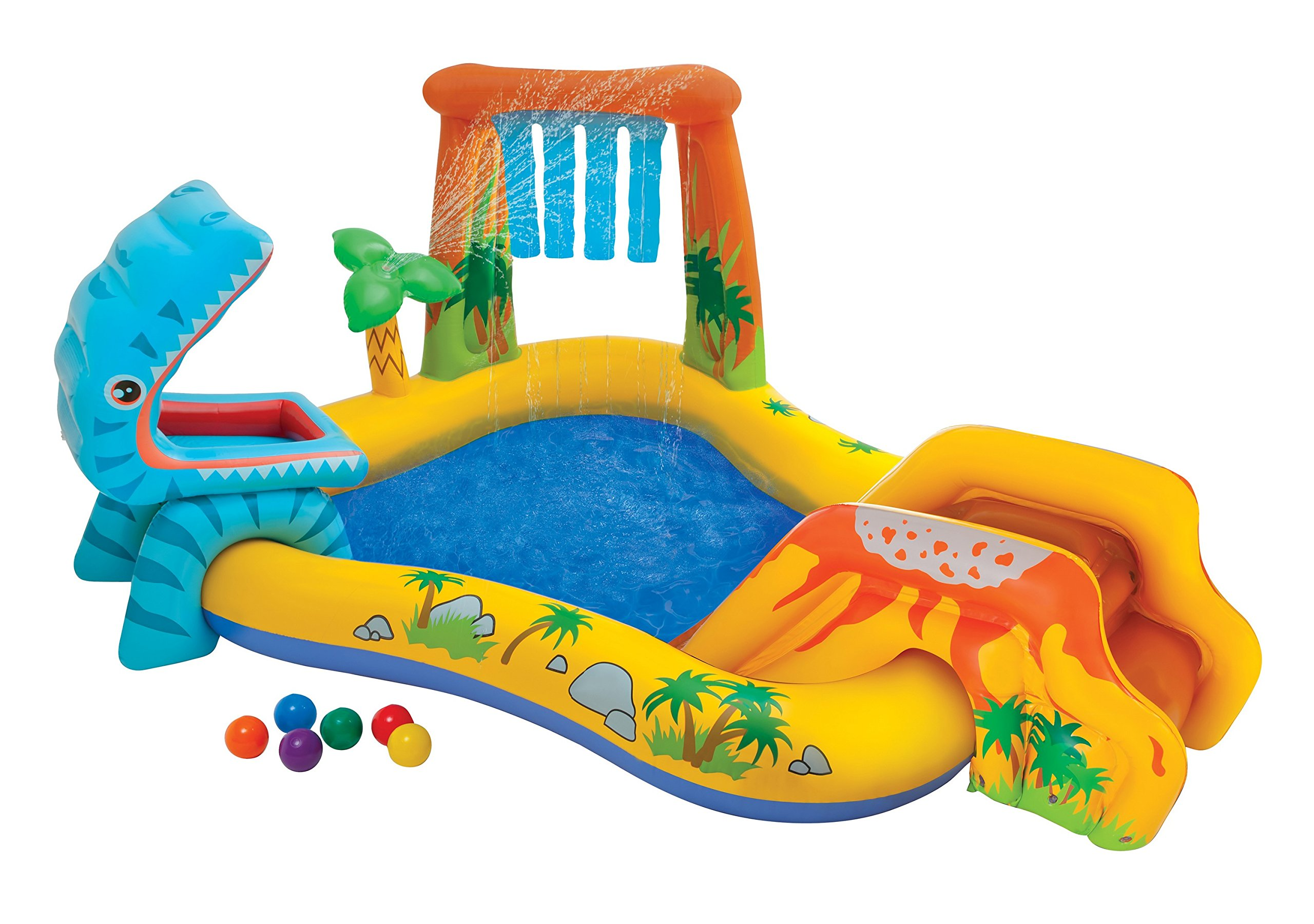Intex Dinosaur Inflatable Play Center, 98in X 75in X 43in, for Ages 2+ by Intex