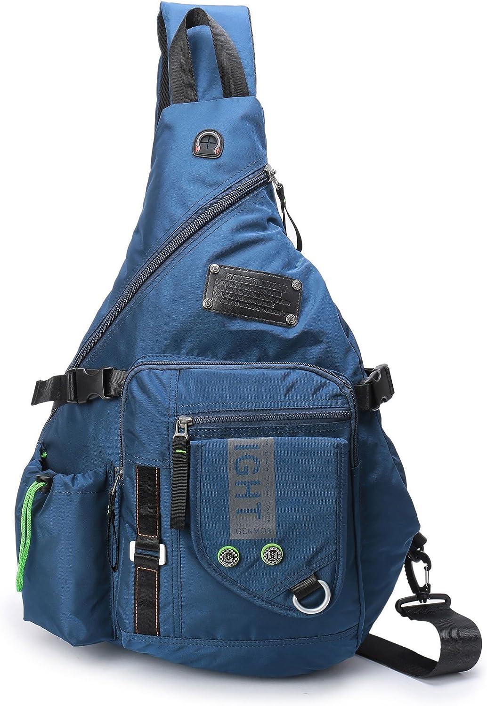 Large Sling Backpack, Sling Chest Bag Shoulder Crossbody Daypacks Fits 14.1-Inch Laptop Bookbag for Travel Outdoor Men Women