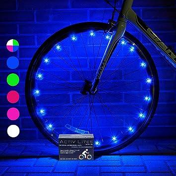 Activ Life Luces LED Ruedas de bicis (Set de 2 Azul). Regalo ...