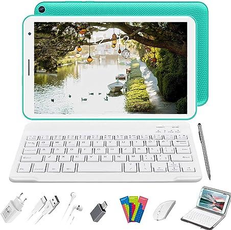 Tablet 8 Pulgadas Baratas y Buenas, 2 in 1 Tablet con Teclado 3GB de RAM y 32 GB de Memoria Escalable 128GB, 4G WiFi Tableta Android 10 Tablet PC ...