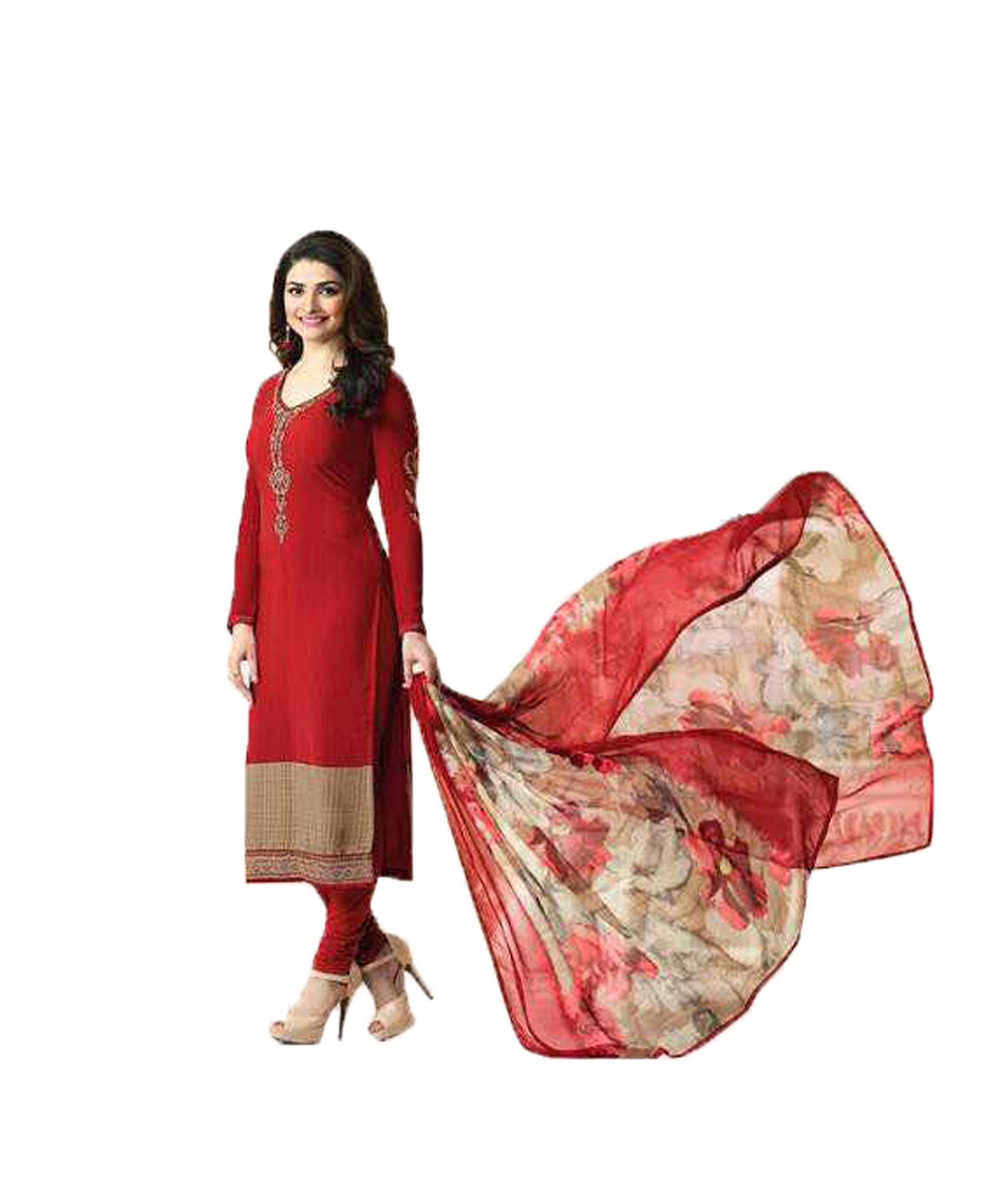 Ready Made New Designer indian/pakistani fashion salwar kameez for women VF (LARGE-42, Red)