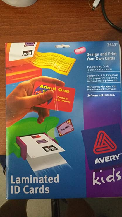avery kids laminate id cards - How To Laminate Cards
