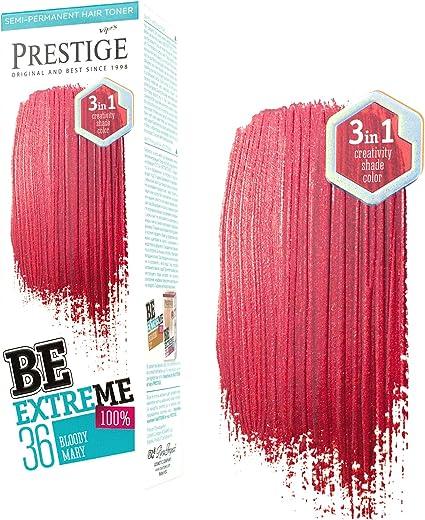 Be Extreme Tóner Semi Permanente para Pelo, Color 36 Bloody Mary - Sin Amoniaco, Sin Parabenos y PPD