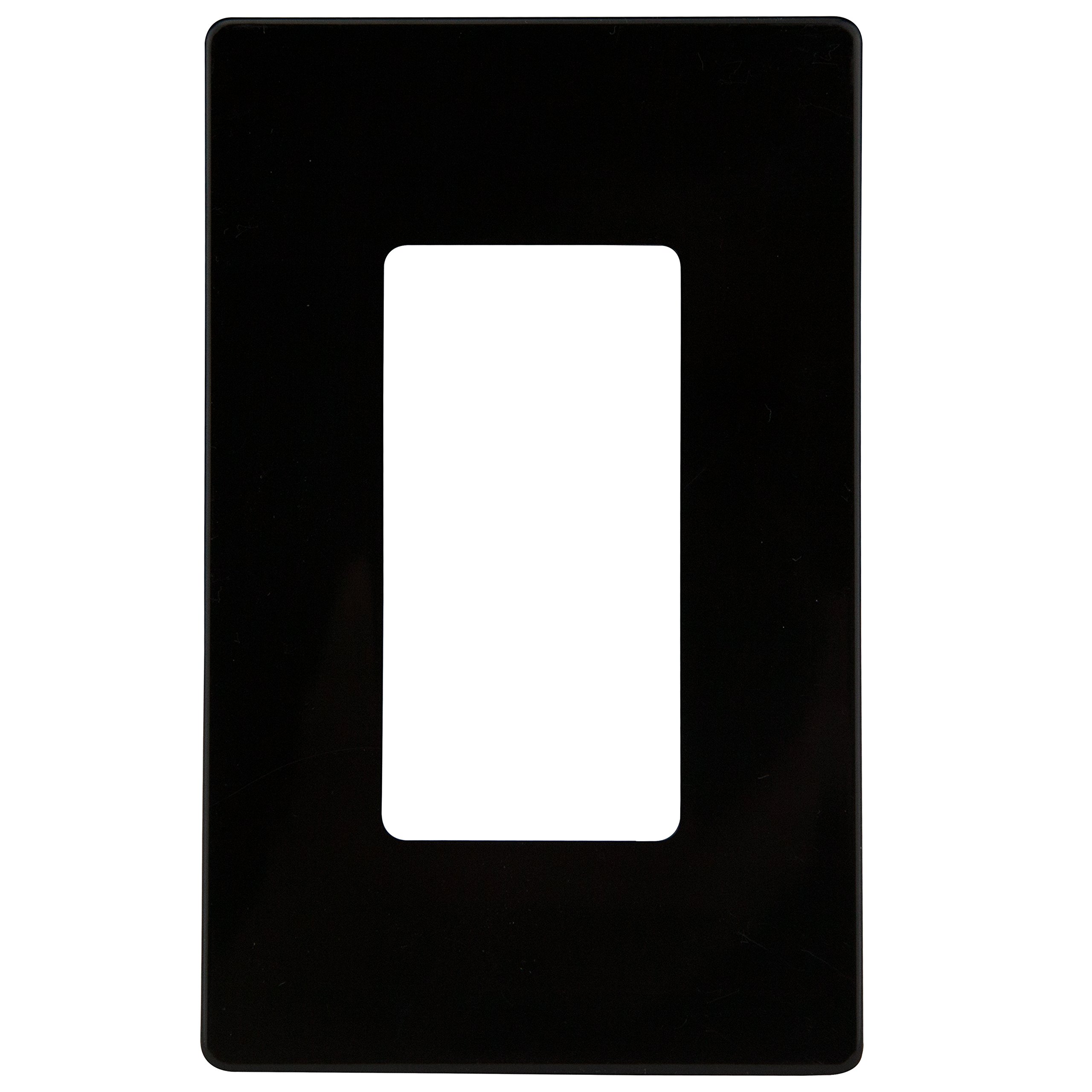 Enerlites SI8831-BK Screwless Cover Child Safe Decorator Wall Plate, Standard Size 1-Gang, Unbreakable Polycarbonate Thermoplastic, Black