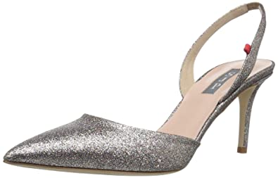 3b9851bfed7 SJP by Sarah Jessica Parker Women s Bliss 70 Pointed Toe Sling-Back Pump  Tinsel Glitter