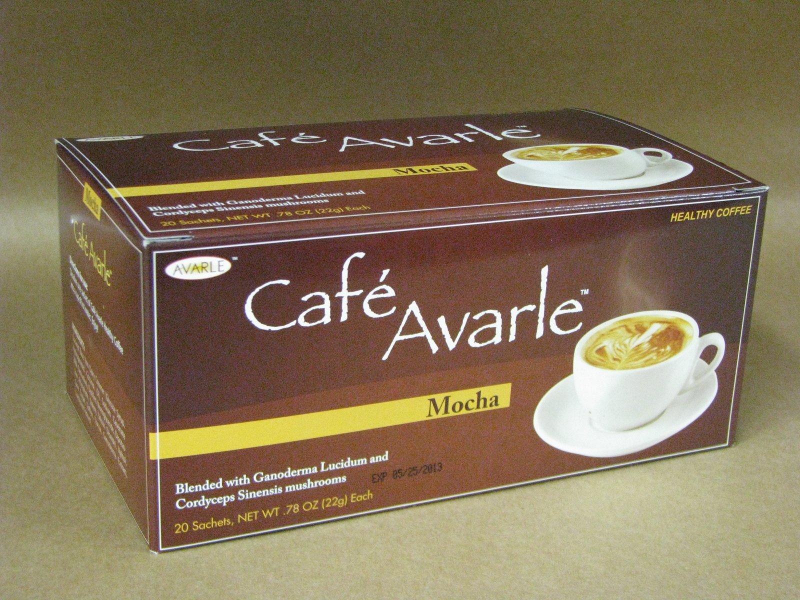 Cafe Avarle Healthy Mocha with Ganoderma & Cordyceps 20 Sachets