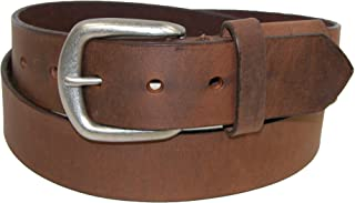 product image for Boston Leather Men's Big & Tall Aged Bark Leather Hidden Stretch Belt