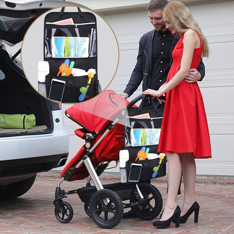 INTEY Car Back Seat Organiser Multi-Pocket with Tablet Holder 2 Pack
