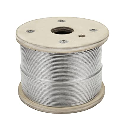 Amazon.com: Happybuy Stainless Steel Cable 500ft 1/8 1x19 Steel ...
