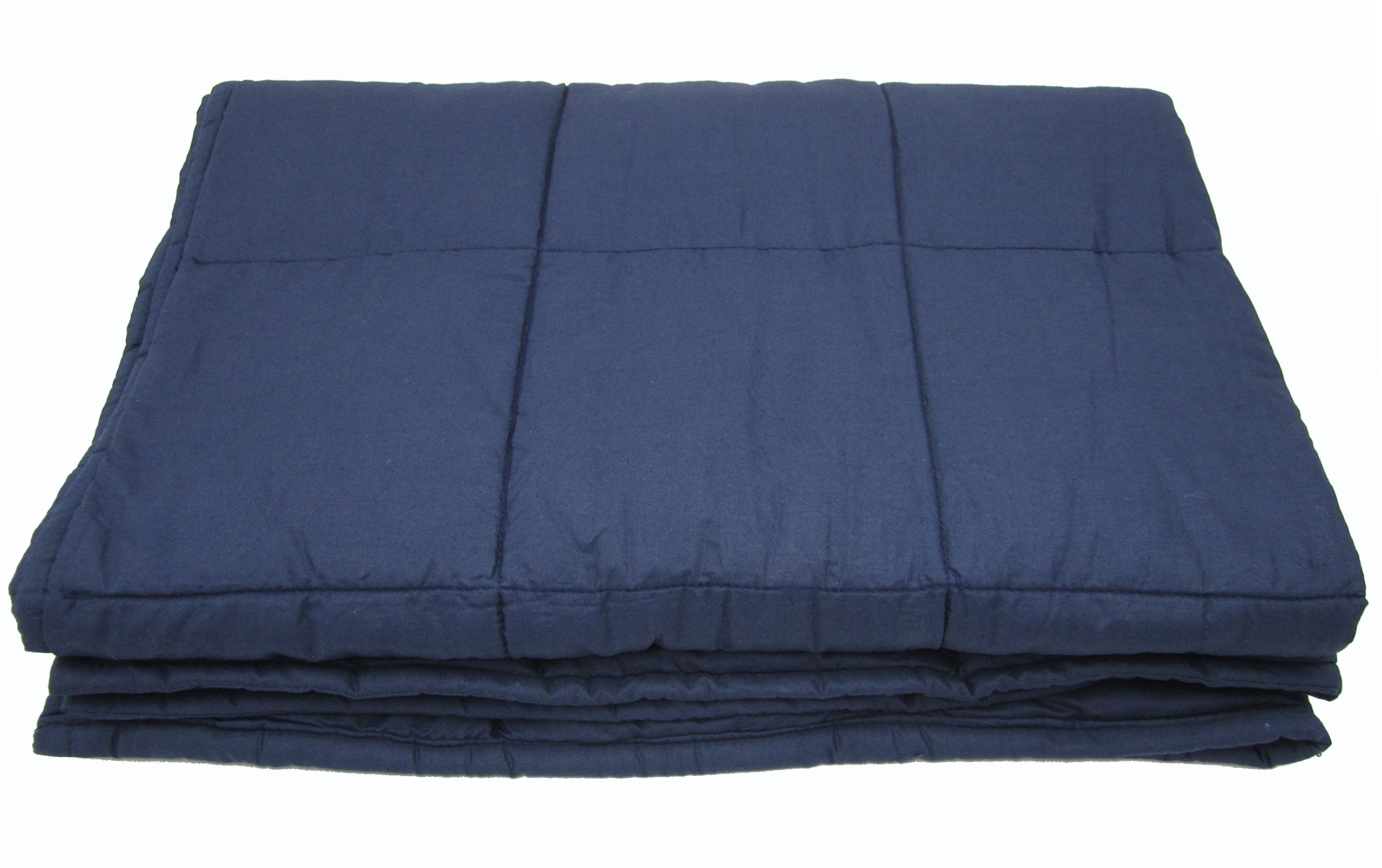 Weighted Blanket for Adults, 10lb, Cotton, Stress and Anxiety Relief, Helps Calm AAD, ADHD, Autism By Jade Silk
