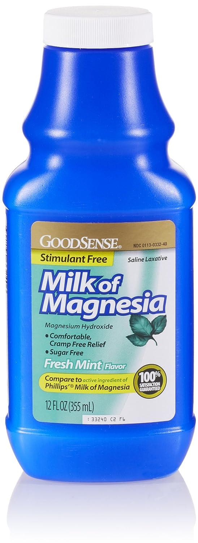 Amazon.com: GoodSense Milk of Magnesia Saline Laxative, Mint, 12 Fl Oz: Prime Pantry