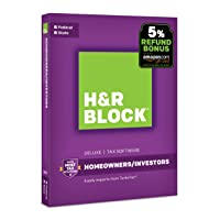 H&R Block 2018 Tax Software On Sale from $14.99 Deals
