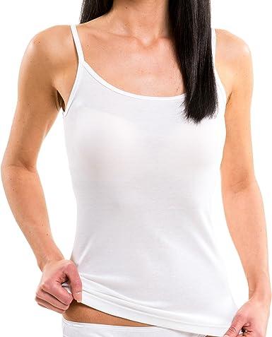 HERMKO 1560 Camisetas de Tirantes 100% algodón: Amazon.es: Ropa y accesorios