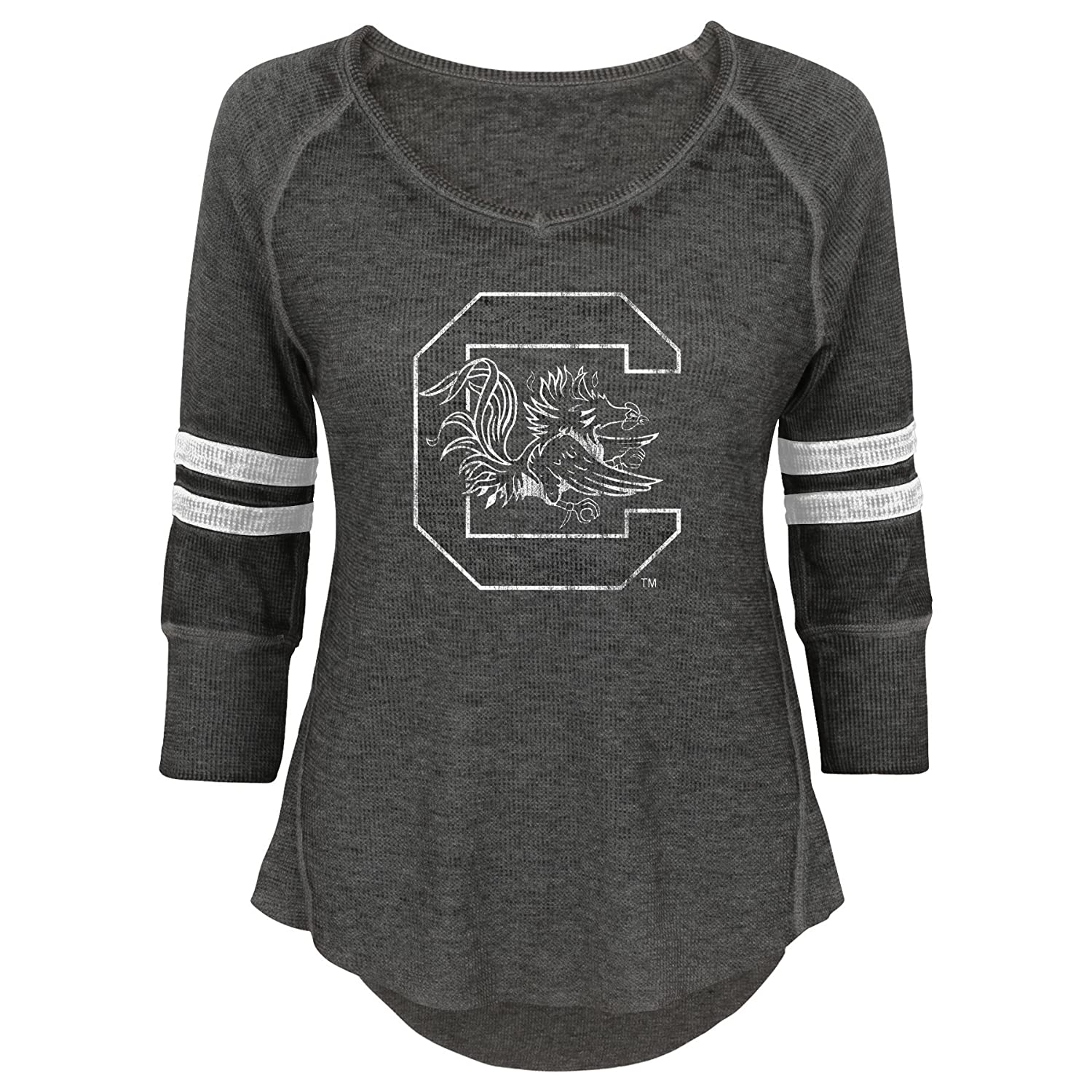 11-13 NCAA South Carolina Fighting Gamecocks Juniors Outerstuff Relaxed 3//4 Raglan Thermal Top Team Color Large