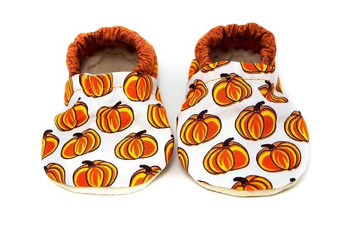 e0e3e93c505ac Amazon.com: Pumpkin Baby Shoes: Handmade