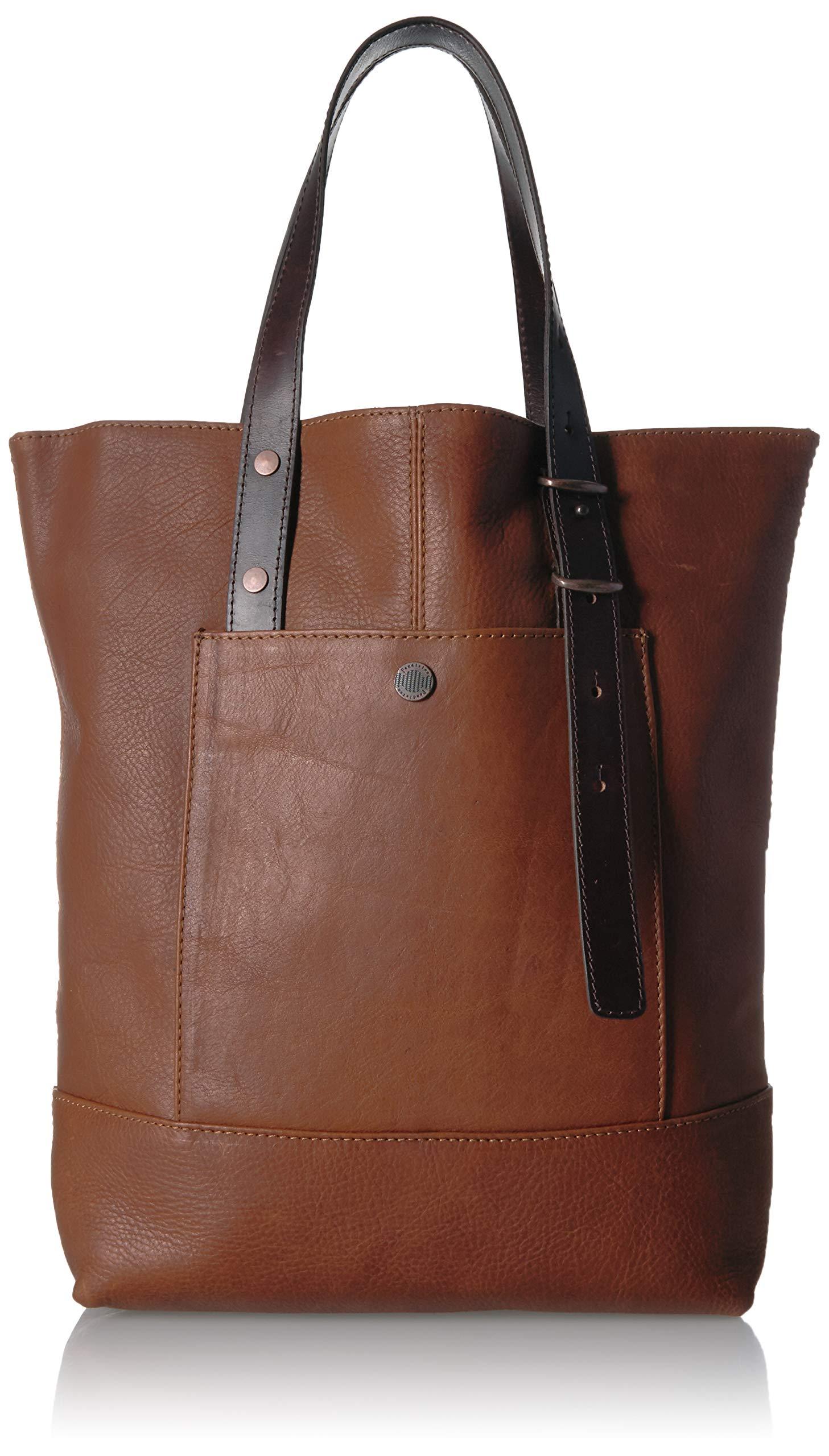 Pendleton Women's Leather Open Tote, tan One Size