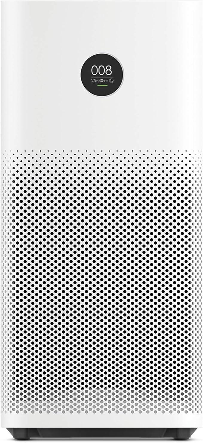 Image ofXiaomi Mi Air Purifier 2s EU version - Purificador de aire, conexión WiFi y pantalla display, para estancias hasta 37m2, 310m3/h, Blanco, 52 x 24 x 24 cm