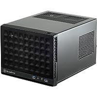 SilverStone SST-SG13B - Sugo Mini-ITX kompaktowa obudowa na komputer sześcian, panel przedni z siatki, czarny