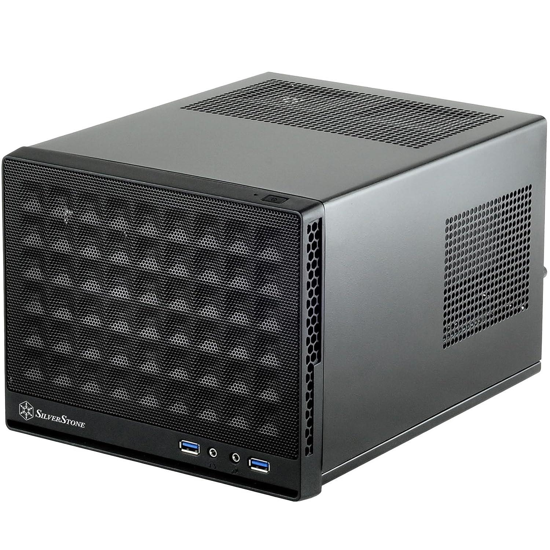 SilverStone SST-SG13B - Sugo Boî tier PC cube compact Mini-ITX, Panneau frontal Mesh, noir Silverstone Technology 12049 Boitier PC