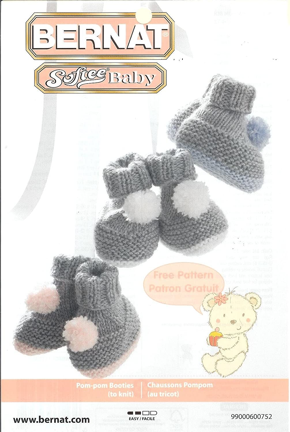 Amazon.com: Bernat Softee Baby Yarn 3 Pack Bundle Includes 3 ...