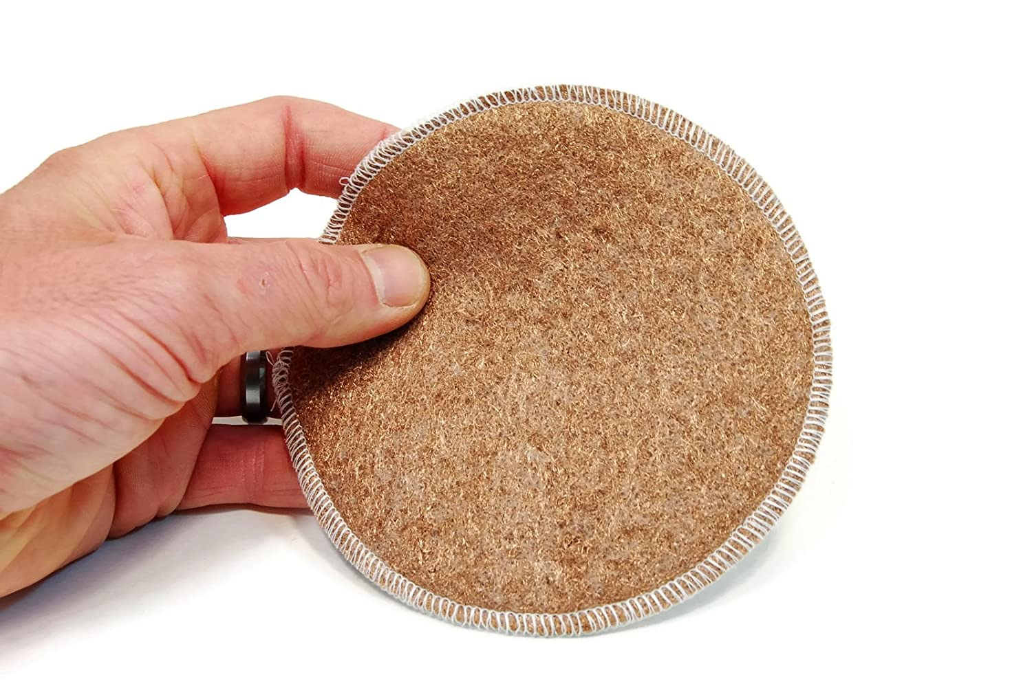"""Rogue River Tools 5/"""" Tile//Glass Cleaning Bronze Wool Polishing Pad 1pc"""