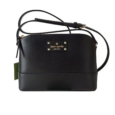 f7e541d347 Kate Spade Wellesley Hanna Leather Handbag Shoulder Bag Crossbody Purse ( Black)