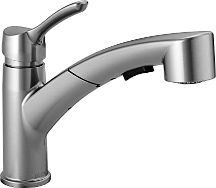 dispenser pull dp technology sssd dst out handle faucet down kitchen touch ac faucets delta addison single