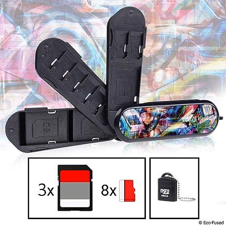 Estuche para Tarjetas de Memoria Tipo de Navaja Suiza – Incluye Lector Micro SD (USB) – Se Adapta
