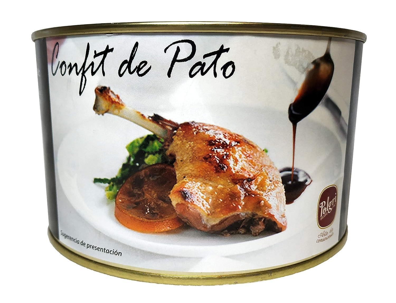 Polgri - Confit de Pato 4/5 Muslos de Pato | Muslos de Pato Confitados | Lata Circular 4/5 Unidades