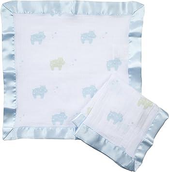 100/% coton mousseline pack de 2 Anais Issie Security Blanket doll Aden par Aden