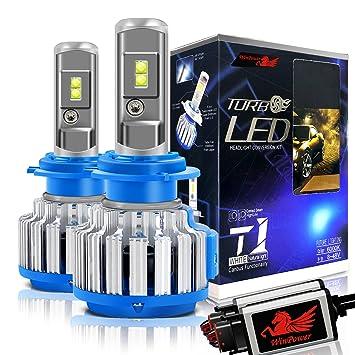 WinPower H7 LED Bombillas de faros Todo en uno Kit de conversión 70W 7200 lúmenes 6000K