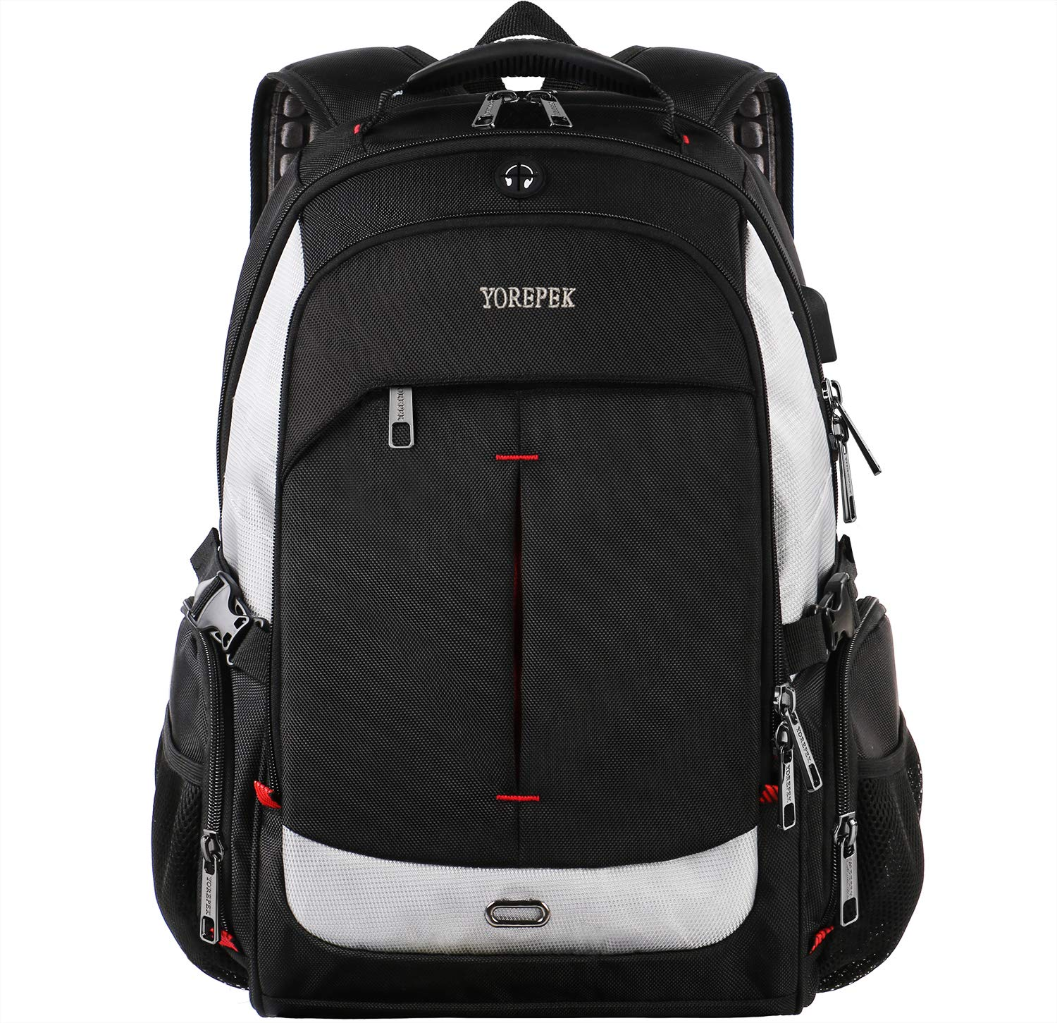 Travel Laptop Backpack,17 Inch Laptops Backpack with USB Charging Port for Mens Women,Extra Large TSA Friendly Business Computer Bag, Water Resistant Large School Back Pack for College Students,Black