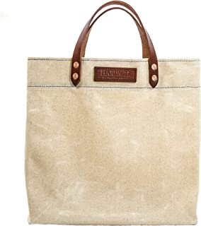 product image for Grocery Tote - Waxed Canvas - Natural - Made in USA