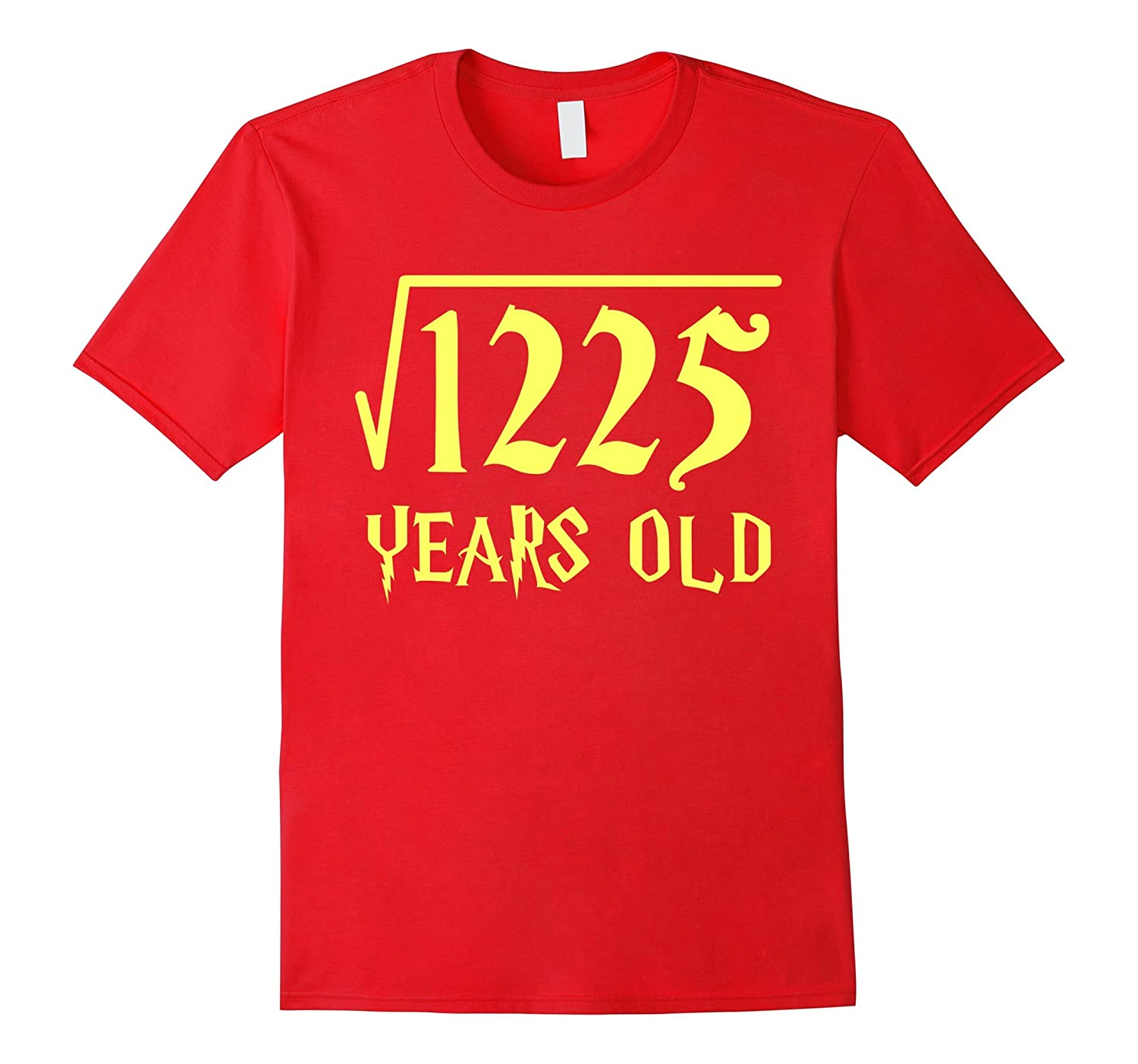 Square Root of 1225 35 Years Old 35th Birthday T-Shirt-CL