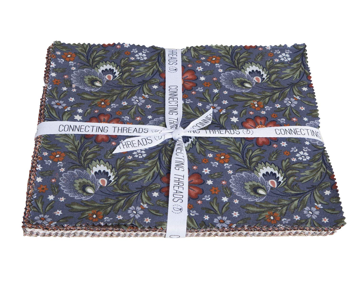 Connecting Threads Print Collection Precut Quilting Fabric Bundle (Arcadian Dusk - 10'' Squares)