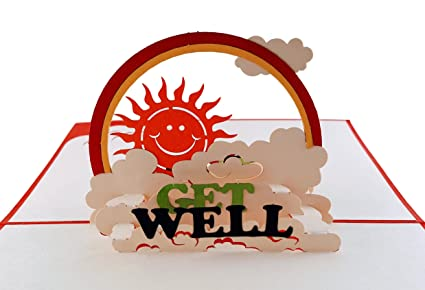 Amazoncom Igifts And Cards Sunshine Get Well 3d Pop Up Greeting