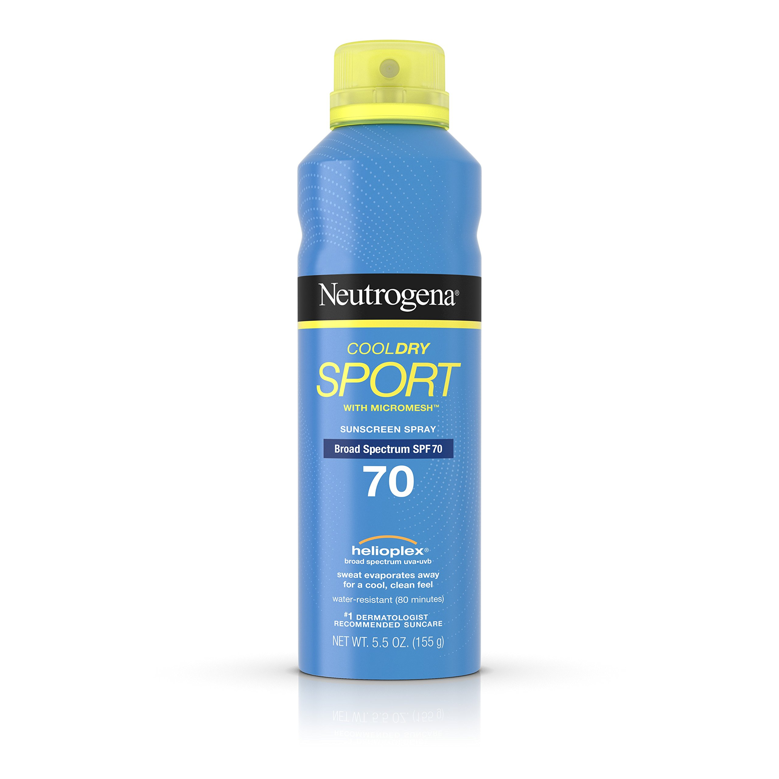 Neutrogena Cooldry Sport Sunscreen Spray Broad Spectrum SPF 70, 5.5 Oz