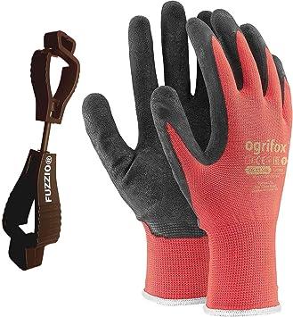 24 Paar Arbeitshandschuhe Gartenhandschuh Handschuhe Montagehandschuhe Gr 10 ROT